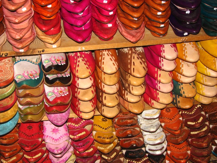 Leather souks in Fes